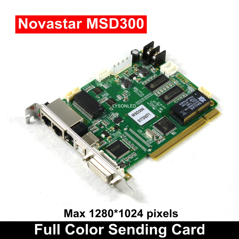 Novastar MSD300 Synchronous Full Color Sending Card For Advertising Large Led Video Wall 1280*1024 Pixels