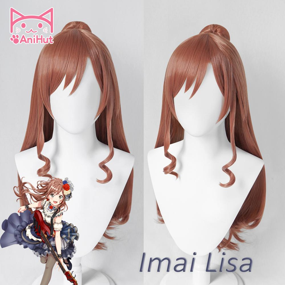 【AniHut】Imai Lisa Wig BanG Dream! Cosplay Wig Brown Synthetic Hair BanG Dream Cosplay Imai Lisa
