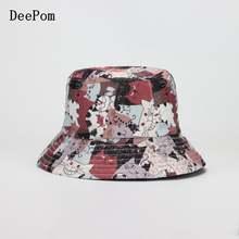 Панама deepom в Корейском стиле женская двусторонняя шляпа рыбака