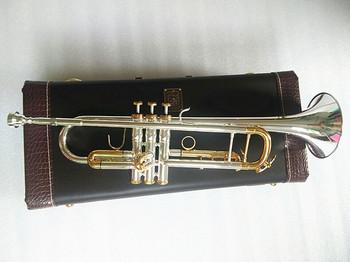 Jakość trąbka oryginalny srebrny pozłacane klucz LT180S-72 płaski Bb profesjonalny trąbka bell Top instrumenty muzyczne mosiądz tanie i dobre opinie Posrebrzane STAINLESS STEEL Żółty mosiądzu