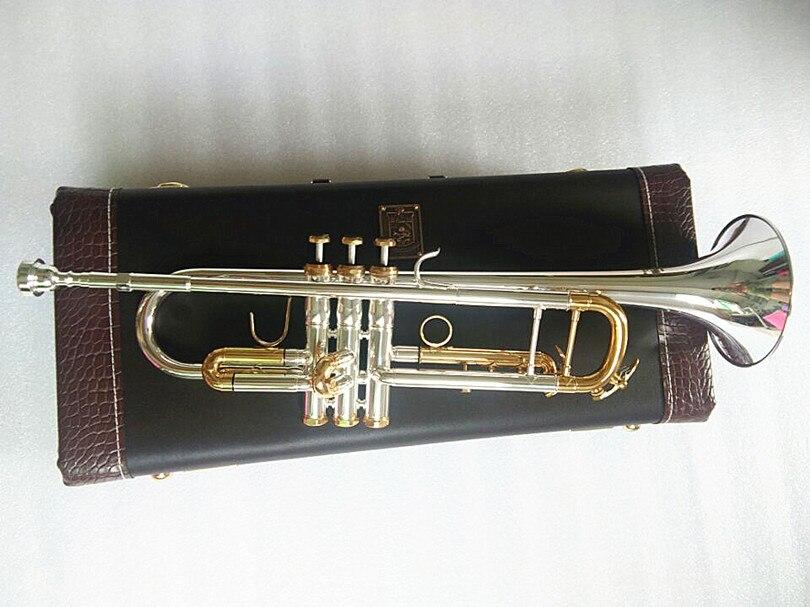 Qualité trompette Original argent plaqué or clé LT180S-72 plat Bb professionnel trompette cloche haut instruments de musique en laiton