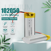 3.7V 1000mAh 102050 Lithium Polymer Li-Po li ion Rechargeable Battery For MP3 MP4 MP5 GPS DVD tablet Bluetooth camera Lipo cell