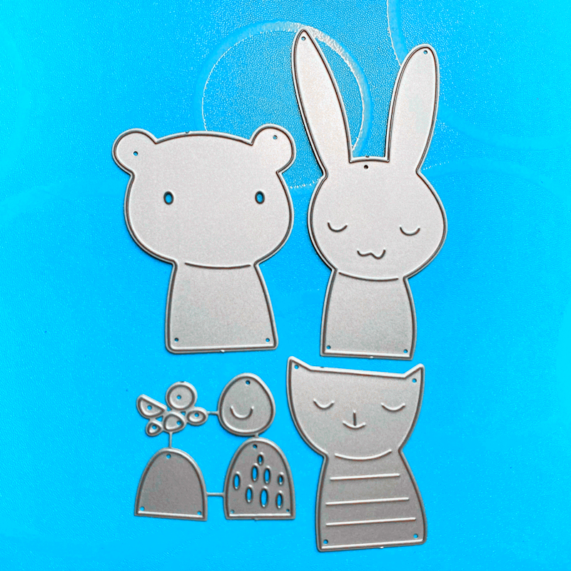 YINISE SCRAPBOOK Metal Cutting Dies For Scrapbooking Stencils ANIMALS PAPER Album Cards Making Embossing Die CUT Cuts TOOLS MOLD