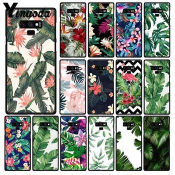 Yinuoda planta verde hojas flor funda de teléfono para Samsung Galaxy Note7 8 9 5 10 Pro A50 J5 J6 Prime J7