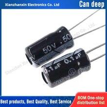 50 PC/LOTE 4x7mm 50V0.1UF 50V 0.1UF capacitor Eletrolítico