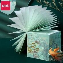 DELI – autocollants de Notes de la série palais d'été, Message créatif d'étudiant, papier, cadeaux, boîte tridimensionnelle