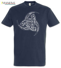 цена на Odhins Horns Ornaments T-Shirt Valhalla Thor Loki Odin Viking Vikings Valhall Short Sleeve Cheap Sale Cotton T Shirt