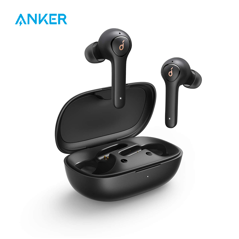 Anker Soundcore Life <font><b>P2</b></font> TWS True Wireless Earphones with 4 Microphones, CVC 8.0 Noise Reduction, 40H Playtime, IPX7 Waterproof image