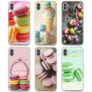 Silicone Phone Bag Case For Sony Xperia XA Z Z1 Z2 Z3 Z5 XZ1 XZ2 compact M2 M4 M5 C4 C6 E3 T3 dessert ice cream laduree Macarons