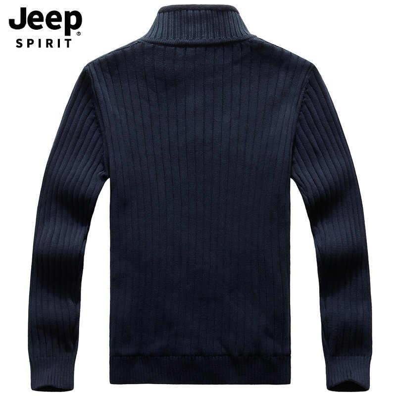 JP high neck sweater thickened men's brand plush sweater men's autumn winter warm sweater men