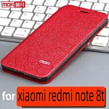 Flip מקרה עבור xiaomi redmi הערה 8t מקרה redmi 8t כיסוי מלא כיסוי עור ספר Mofi יוקרה רך הסיליקון חזרה redmi הערה 8t מקרה