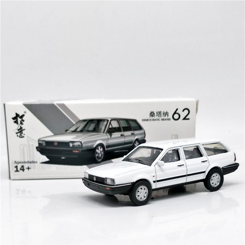 1:64 Santana Wagon White Diecast Model Car