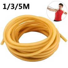Natural Latex Slingshots Rubber Tube 1/3/5M Replacement Band Hunting Shooting Sling Shot Catapult Sling Tactical Bow Tool(China)