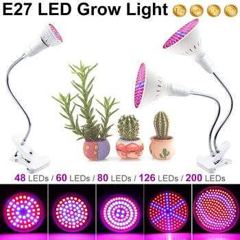 Growing Lamps LED Grow Light Flexible Lamp Clip Plant Growth 3W 5W 7W 15W 20W Plantas Hydroponic Box Tent