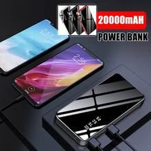 20000 мА/ч мини внешний аккумулятор с зеркальным дисплеем 2.1A Быстрая зарядка внешний аккумулятор для Xiaomi HUAWEI смартфон