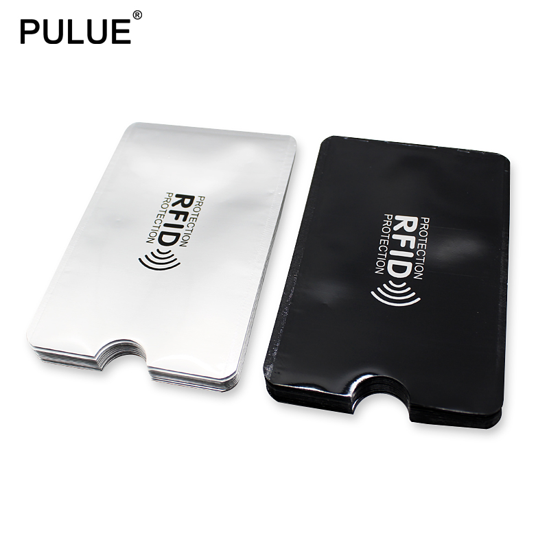 10Pcs Anti Rfid Blocking Reader Lock Bank Card Holder ID Bank Card Case Aluminium Protection NFC Anti-theft Credit Card Holder