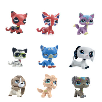 New Rare LPS Pet Shop Mini Toy Set Shorthair Cat Great Dane Dog Collie Dog PVC Action Doll Toy Doll Model Kids Gift Girl Toy new pet genuine original lps no deep brown white collie dog toys