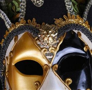 Image 5 - Полнолицевая Венецианская Маскарадная маска Джокера Марди Гра реквизит для косплея на Хэллоуин унисекс