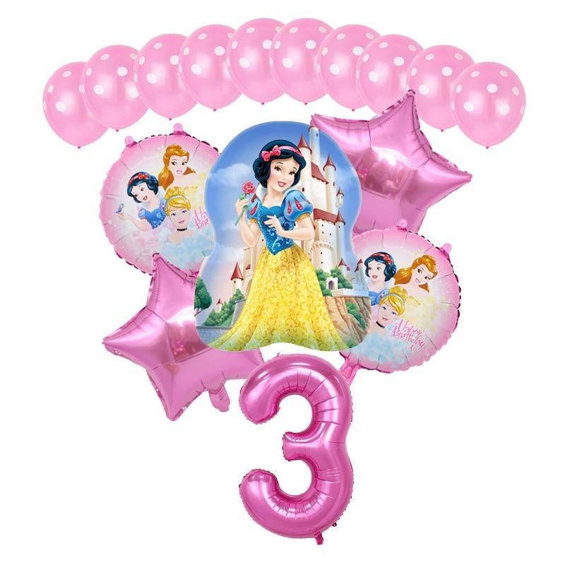16 шт., фольгированные воздушные шары «Принцесса Диснея»