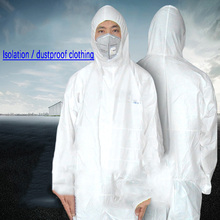 Disposable Chemical Experiment Work Clothes for Man Isolatio