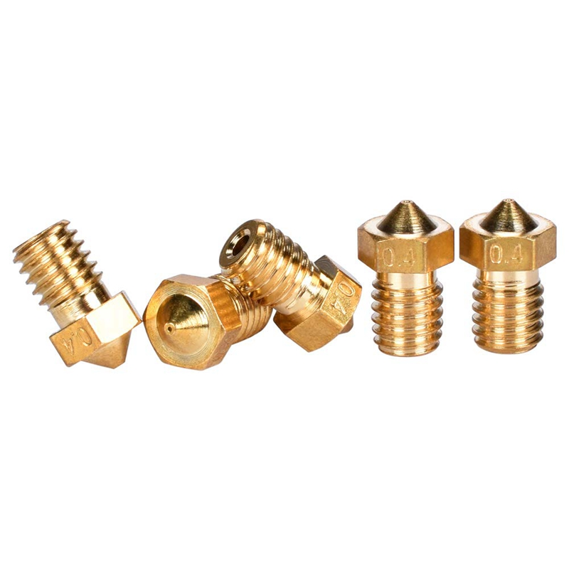 Image 2 - 3D M6 0.4mm Extruder Nozzle Print Head For 1.75mm Filament 3D Printer (Pack Of 6Pcs)-in 3D Printer Parts & Accessories from Computer & Office