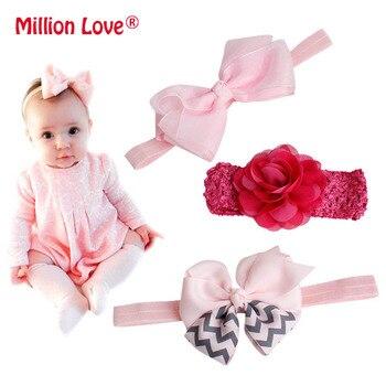 0-24M Fashion Newborn Baby girls floral Bow headband print cotton girl headbands headwrap baptism hair accessories