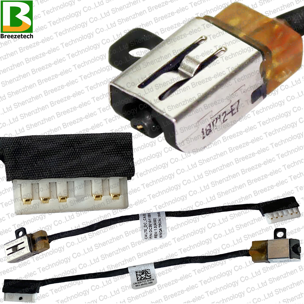 Laptop DC POWER JACK W/ CABLE Connector For Dell Inspiron 17 3779 5000 5570 5770 I5770 5775 I5775 P35E001 P35E 2K7X2 DC301011B00