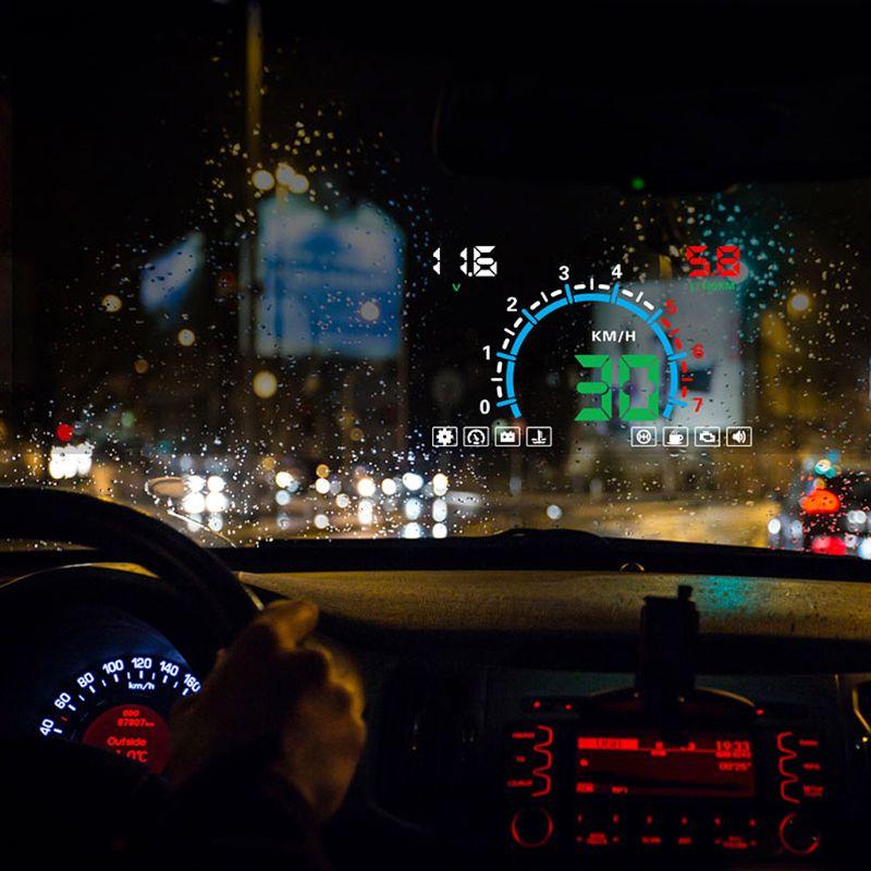 "New E350 5.8"" Screen HUD Car Head Up Display Engine Fault Fuel Alarm Speedometer U1JF"