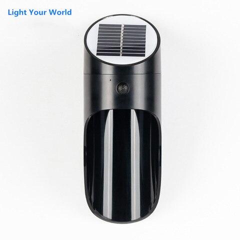 luzes solares ao ar livre sensor de