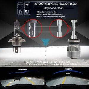 Image 3 - CNSUNNYLIGHT R2 LED reflektor samochodowy H7 H4 H11/H8 H1 9005/HB3 9006/HB4 prawdziwe 50W 7600lm/para Turbo wentylator żarówki CSP reflektor 12V światła