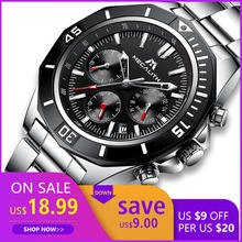 Watches Mens 2019 MEGALITH Sports Waterproof Watch For Men Luminous Chronograph Mens Watches Top Brand Luxury Relogio Masculino(China)