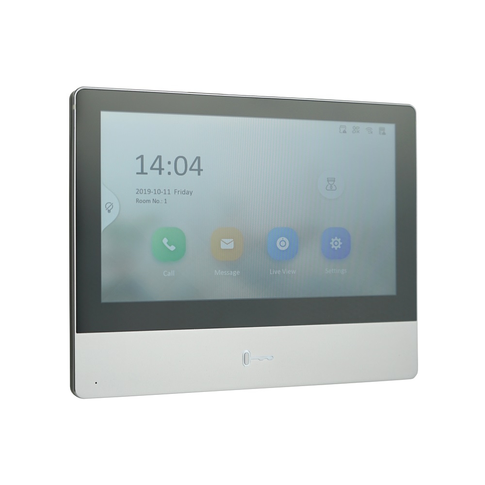 HIK Original International Version Multi-Language DS-KH8350-WTE1 Indoor Monitor,802.3af POE,app Hik-connect,WiFi,Video Intercom