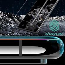 Nillkin 3D CP + מקס מזג זכוכית עבור Samsung Galaxy S20 אולטרה בתוספת מלא מסך דבק כיסוי מעוקל מגן oleophobic