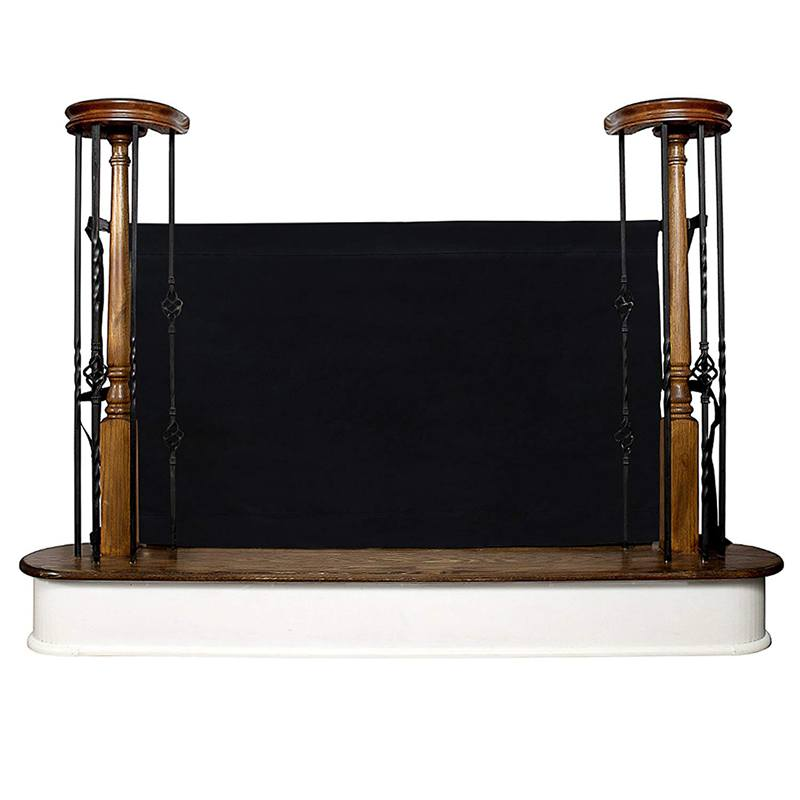 Baby And Pet Gate–To-Banister-Retractable Safety Gate Wide And Regular Sizes Black