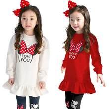 Mädchen Kleidung Sets Baumwolle Minnie T Hemd Volle Hülse Kleid + Leggings Hosen Baby Kinder Sportswear Anzug 2-8 jahre Kinder Kleidung