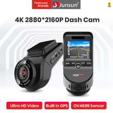 Car DVR Camera 4K 2160P Build In GPS WiFi ADAS Dash Cam Front and Rear Both 1080P Driving