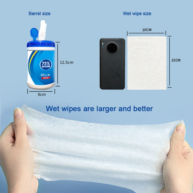 60 Wet Wipes Per Pack Flushable Portable Wipes For Adults Wet Wipes Cleaning Wipes Disposable Wipes Fresh Scent