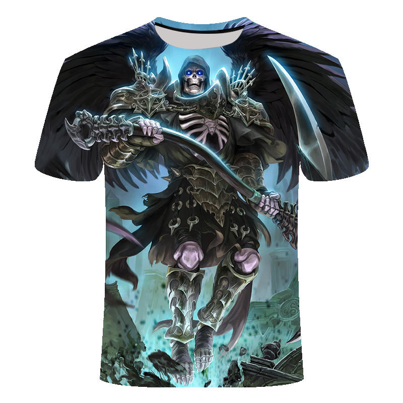 Drop Ship Summer NewFunny skull 3d T Shirt Summer Hipster Short Sleeve Tee Tops Men/Women Anime T-Shirts Homme Short sleeve tops 30