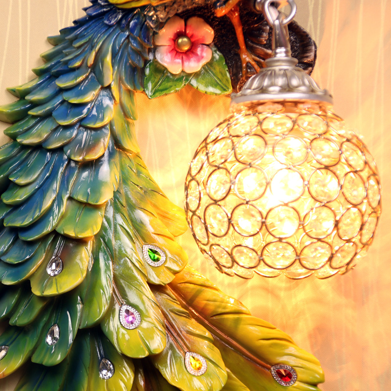 sudeste asiatico um par pavao lampada 02