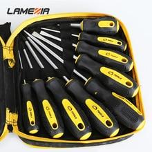 Ламеция Многофункциональный набор отверток профессиональный резиновая ручка отвертка комбинация инструмент бытовой ручной комплект