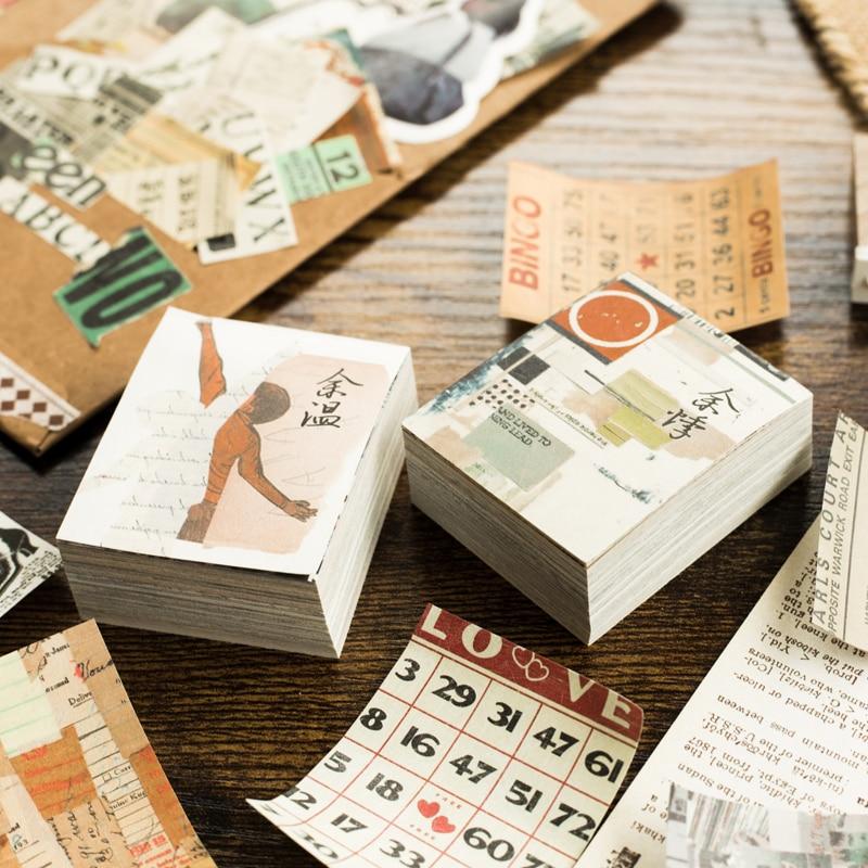 Mr.paper 165pcs/lot Collage Movie Writing Paper Kraft Card Journaling Bullet Scrapbooking Material Paper Retro Words LOMO Cards