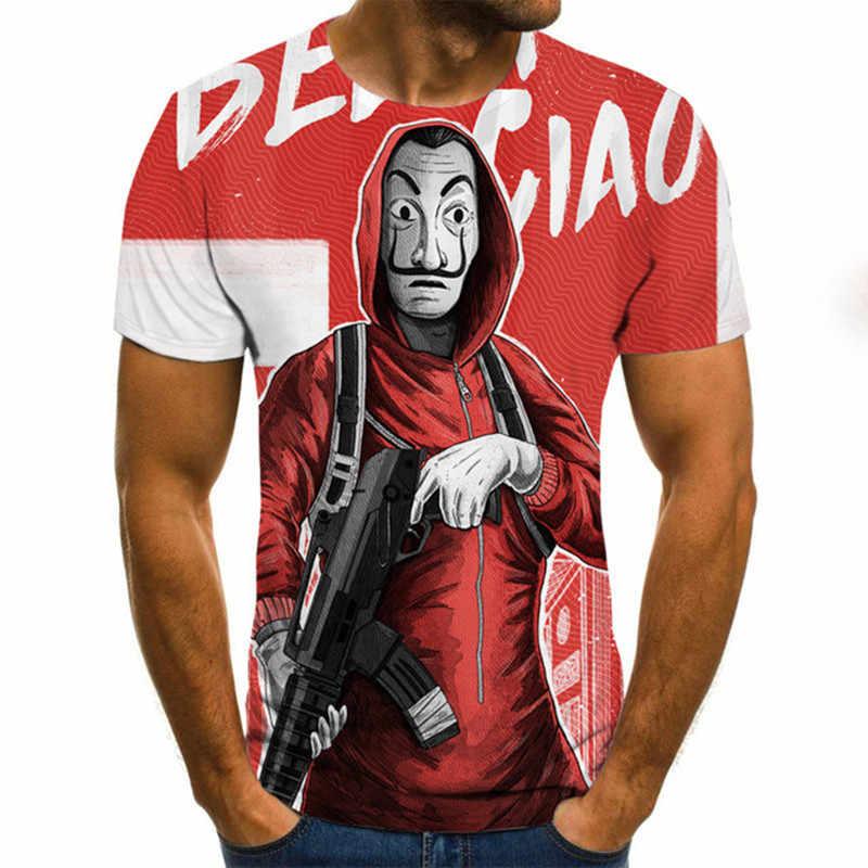 2020 קיץ סגנון חדש ליצן מודפס חולצה ג 'וקר פנים זכר חולצה גברים נשים היפ הופ Streetwear מצחיק 3D ג' וקר Tshirts