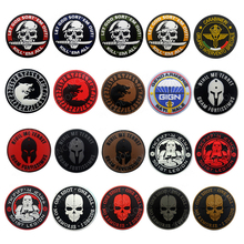 3D Rubber Quality Patches Wolf Viking Tactical Military Decorative Patch Skull Combat PVC Badges For Clothing Jackets Cap