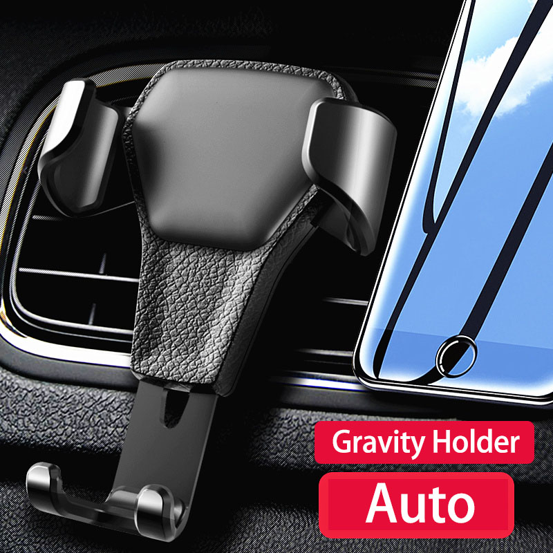 Car Phone Holder Car Cell Phone Support For Phone In Car Air Vent Mount Stand No Magnetic Gravity Smartphone Cell Support