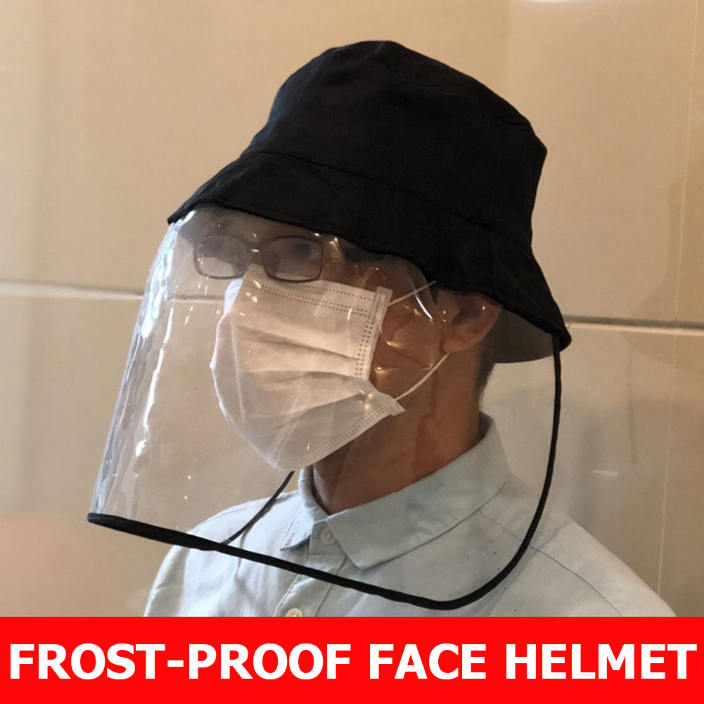 Anti-virus Protective Cap Anti-fog Mask Men Women UV Protection Fisherman Sun Hat Outdoor Face Cover Safety Protection Headwear