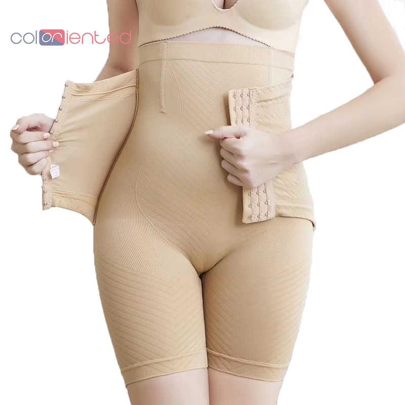 Coloriented נשים ומעצב מחוך מכנסיים גבוה למתוח חלקה הרזיה תחתונים משולש אבזם וו ברזל עצם גדול גודל XXXXXL