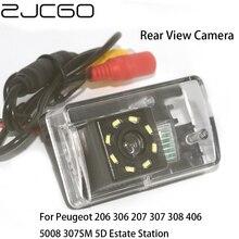 цена на ZJCGO Car Rear View Reverse Back Up Parking Night Vision Camera for Peugeot 206 306 207 307 308 406 5008 307SM 5D Estate Station