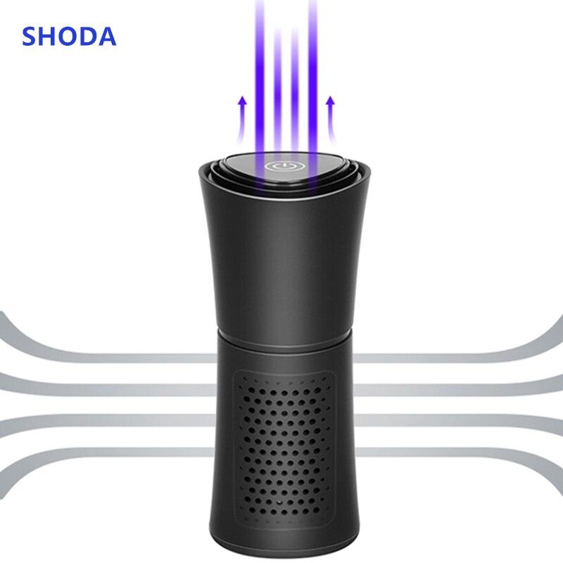 Forma de taza SHODA purificador de aire de coche iones negativos ionizador de filtro de aire eliminar PM2.5 formaldehído