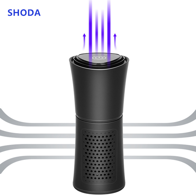 SHODA Cup Shape Car Air Purifier Negative Ions Air Cleaner Ionizer Remove PM2.5 Formaldehyde