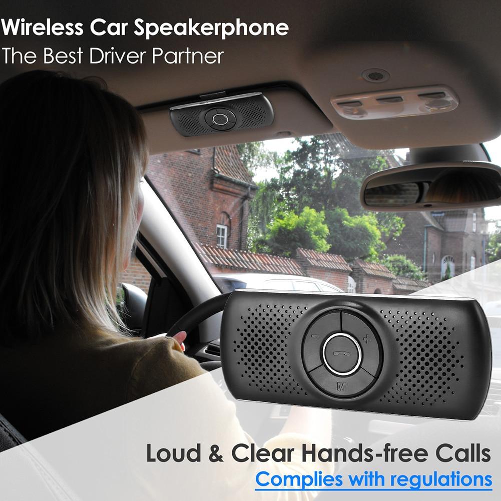 Wireless Bluetooth Car Kit Set Handsfree Speakerphone Multipoint Sun Visor Speaker For Phone Smartphones Car Bluetooth